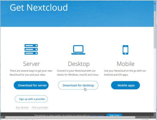 NextCloudデスクトップアプリ1