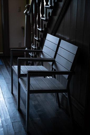たんば黎明館の椅子